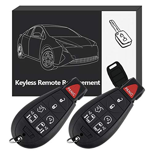YITAMOTOR Key Fob Replacement M3N5WY783X Car Keyless Remote Control with Uncut Key Blade Compatible for 08-15 Chrysler Town and Country 08-14 Dodge Grand Caravan