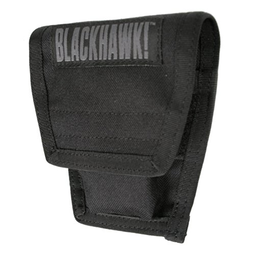 BLACKHAWK! S.T.R.I.K.E. Double Handcuff Pouch with Speed Clips, Black