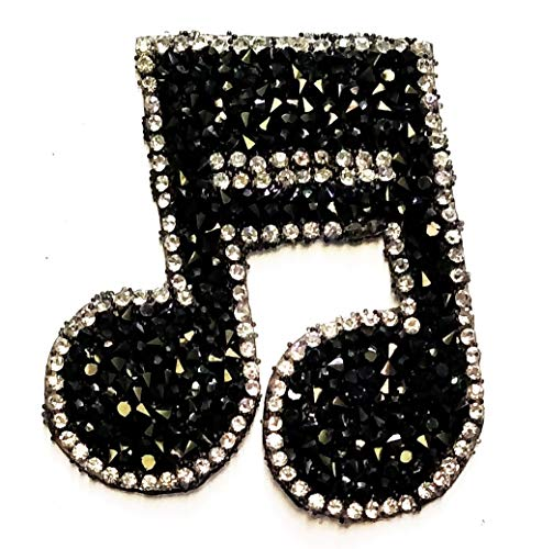 Nipitshop Patches Black Diamond Jewelry Musical