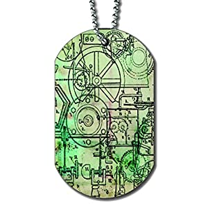Steampunk Schematics – Dog Tag Necklace