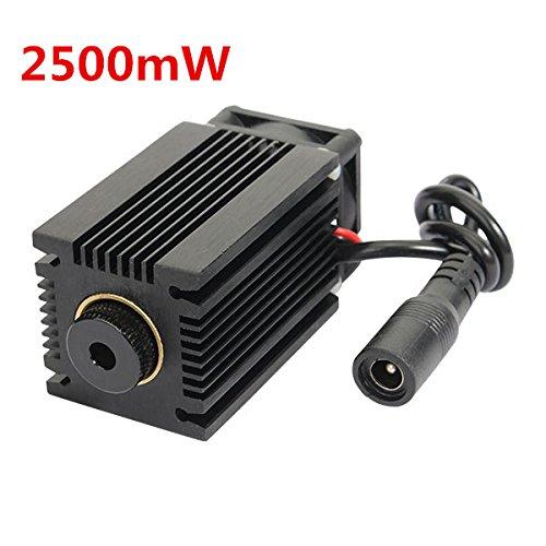 Blue Laser Module 2500mW EleksMaker LA03-2500 445nm With Heat Sink For DIY Laser Engraver Machine