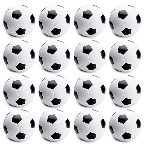 WATINC 16 Pcs 2.5Inch Soccer Ball Squishies Soft Foam Sports Balls for Kids Sports Themed Party Favor Toys, Squeeze Balls for Stress Relief, Ball Games and Prizes, Perfect for Small Hands Stress Balls]()