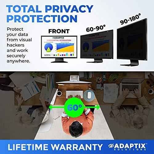 Adaptix 21.5 Inch Privacy Screen Filter (Diagonally Measured) 16:9 Aspect Ratio for Widescreen Computer LCD & LED Monitors - Anti Glare (APS21.5W) by Adaptix (Image #2)