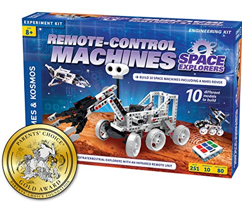 Thames & Kosmos Remote-Control Machines: Space Explorers | Science & Engineering Stem Experiment Kit | Build 10 Real Working Models | Parents' Choice Gold Award - Award Choice Parents Gold