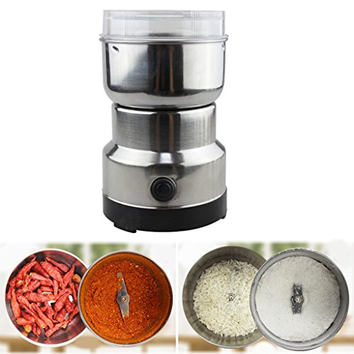 WEISHAZI Coffee Grinder Stainless Electric Herbs/Spices/Nuts/Grains/Coffee Bean...