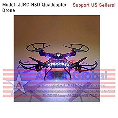 JJRC H8D 6-Axis Gyro 5.8G FPV RC Quadcopter Drone HD Camera With Monitor WM