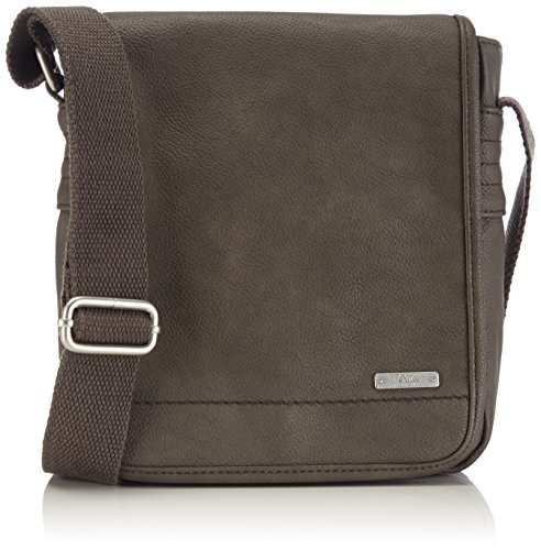 S.oliver (bags) 97.502.94.7500 - Shoulder Bag Man Gray Leatherette - Grau (smoked Pearl 9600)