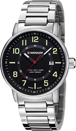 Wenger-Mens-Attitude-Outdoor-Swiss-Quartz-Stainless-Steel-Casual-Watch-ColorSilver-Toned-Model-010341113
