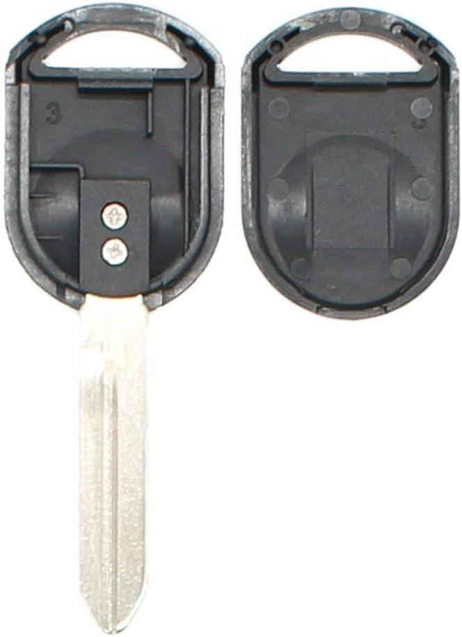 Uncut Ignition Key Transponder Blank for Ford Lincoln Mazda Mercury