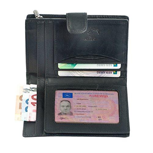 Ladies fold wallet Damengeldbörse - Vegetalle Collection - Tony Perotti Italy Farbe Black