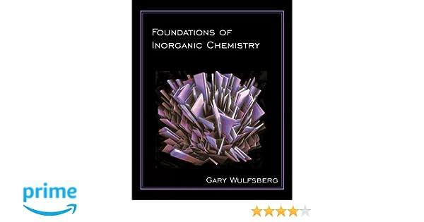 Inorganic Chemistry Gary Wulfsberg Pdf