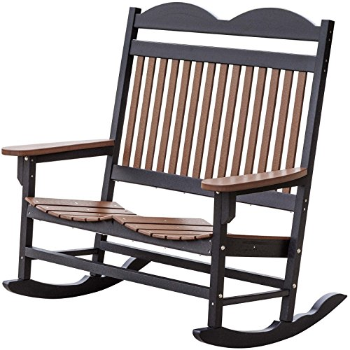Wildridge Recycled Plastic Traditional Double Rocking Chair