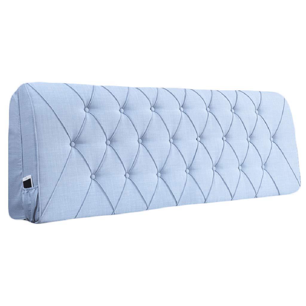 (お得な特別割引価格) ベッドサイド さいず クッション用ヘッドボードベッドサイド背もたれ大型枕ソファ布張り腰パッド、8サイズ、8色 (色 : : (色 オレンジ, サイズ さいず : 160x10x60cm) B07RHCD8B6 185x10x60cm ライトブルー ライトブルー 185x10x60cm, ホビーショップB-SIDE:7a63b58d --- muniz.pro.br