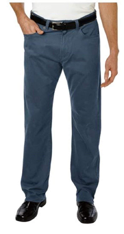 Kirkland Signature Standard Fit 5-Pocket Brushed Cotton Pants (Variety) (38x30, Union Blue)