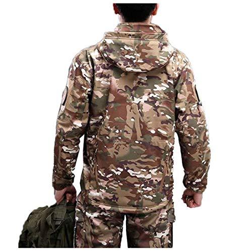 Battercake Battercake Antivento Antivento Antivento Uomo Comodo Giacche Thermal con Softshell Impermeabile Cappuccio Abbigliamento Plus da Cp Tattico Abbigliamento Camouflage Velluto SRrSqn