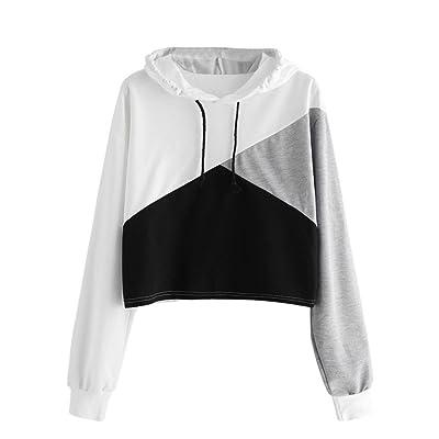 Girl Hoodie, Zulmaliu Patchwork Hooded Casual Sweatshirt Pullover