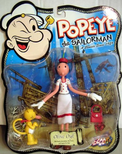 POPEYE THE SAILORMAN OLIVE OYL ACTION FIGURE