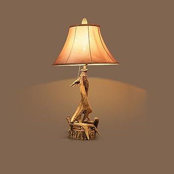 XQQQ - europäischen Stil kreative Geweih Lampe Schlafzimmer ...