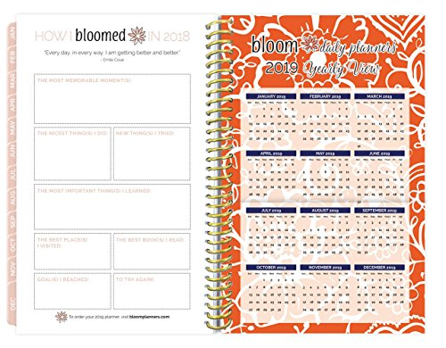 bloom daily planners 2018 Calendar Year Daily Planner - Passion/Goal Organizer - Monthly and Weekly Agenda Datebook Organizer - December 2018 - 6