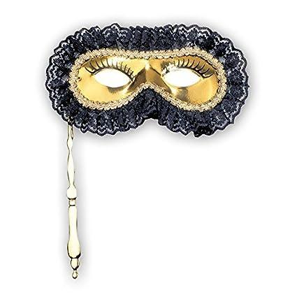 Máscara veneciana barroco dorado máscara de carnaval máscara para disfraz máscara barroco Venecia lobo