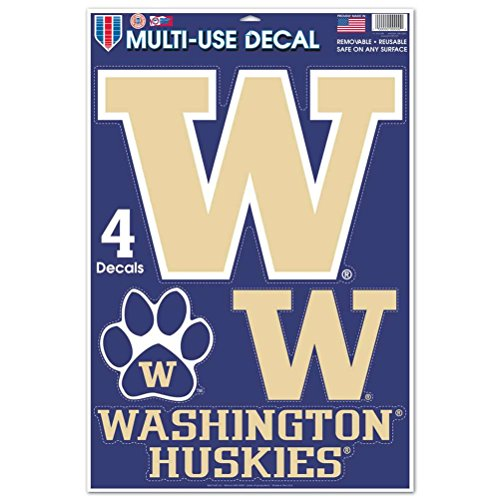 (WinCraft Washington Huskies Multi-Use Decal Set - 11