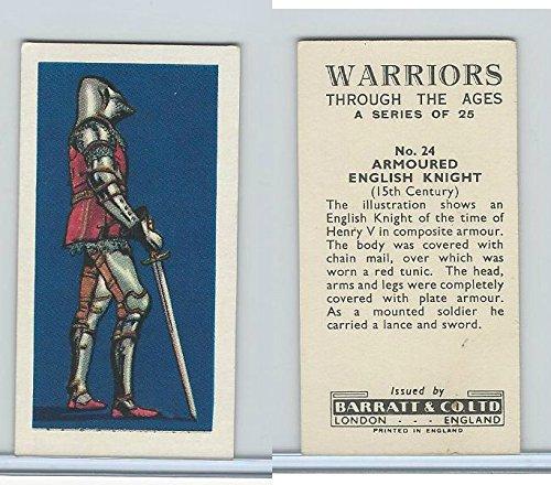 B0-0 Barratt, Warriors Through Ages, 1962, #24 Armoured English Knight (Armoured Knight)