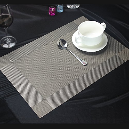 Placemats Glotao Washable Resistant Grey Silver product image