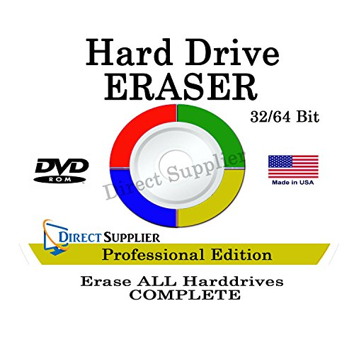Utility Wipers - PROFESSIONAL HARD DRIVE ERASER 32/64Bit Professional Edition - Wipe your Hard Drive Securely for for ALL operating systems