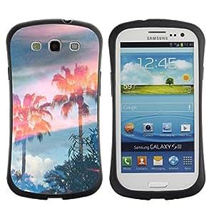 Paccase / Suave TPU GEL Caso Carcasa de Protección Funda para - Trees Magic Summer Sky - Samsung Galaxy S3 I9300