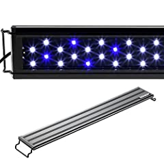 "FEATURE:  Fits aquarium tank from 30"" to 38"" in length with adjustable mounting brackets  Light body without docking brackets: 27.75"" L x 2.7"" W. Tank thickness: No limit to rim size CONFIGURATION: Total 72 LEDs, 60 pcs 6500K white LED, 12 pc..."