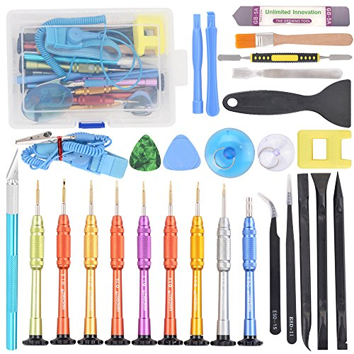 22 in 1 Precision Screwdriver Set with Magnetic Driver Kit, Repair Tool Kits With Portable Box for iPhone, iPad, iPod, iTouch, Cell Phone, Tablet, PC, Laptop, MacBook & other Electronics by HANDSKIT