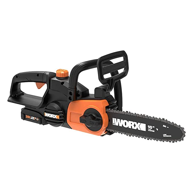 best battery chainsaw: Worx WG322 20V - a technologically advanced chainsaw you'd try