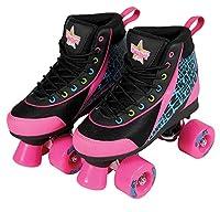 Kandy Skates Disco Diva Black and Pink Roller Skates