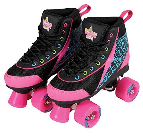 Kandy Skates Disco Diva Black and Pink Roller Skates - Size
