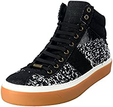 aac7104496e5 JIMMY CHOO Men s Canvas Lace Up Hi Top Fashion Sneakers Shoes US 11 IT 10  EU 44