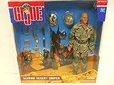 ": Hasbro GI Joe Marine Desert Sniper Set - 1/6 scale - 12"" Tall Figure with Accessories"