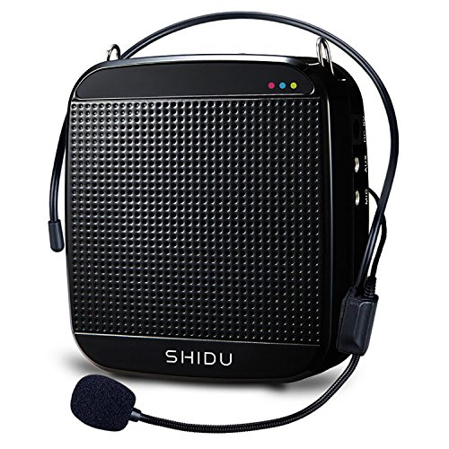 Voice Amplifier SHIDU M600 High-Power 15W Rechargeable Ultralight Portable Speaker with Loud Clear Sound for Teachers, Support MP3 Playing Headset