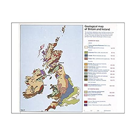 Media Storehouse 10x8 Print of Geological map of Britain and Ireland on blank map of britain, political map of britain, physical map of britain,