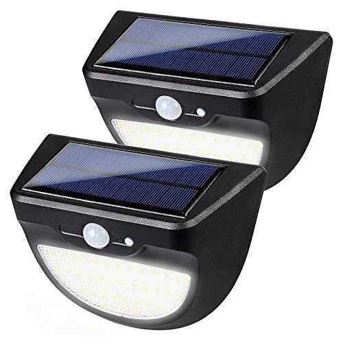 LED Solar Lights Waterproof Solar Lights Outdoor Wireless Motion Sensor Light Auto On/Off with Dim Mode Solar Powered Security Light for Garden, Patio, Driveway, Back Yard