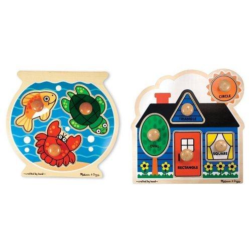 melissa-doug-deluxe-fish-bowl-jumbo-knob-puzzle-and-first-shapes-jumbo-knob-puzzle-bundle