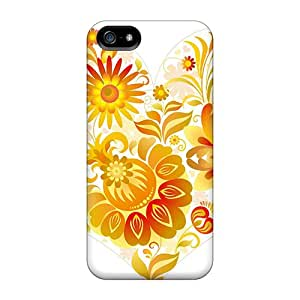 New Arrival Love Heart With Flowers WtO18532zvAg Case Cover/ 5/5s Iphone Case