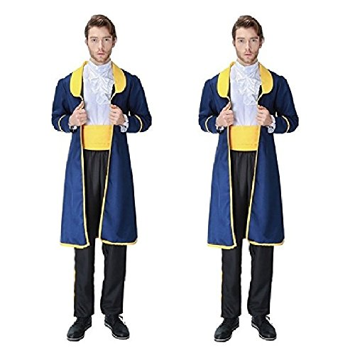GDreamer Beauty & the Beast Inspired Prince Adam Halloween Adult Boy Custome Cosplay Party S-XL (L)