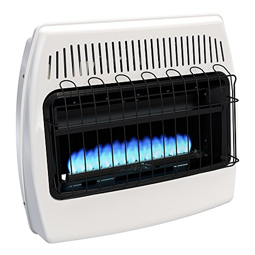 Comfort Infrared Natural Gas Heater - Dyna-Glo BF30NMDG 30,000 BTU Natural Gas Blue Flame Vent Free Wall Heater