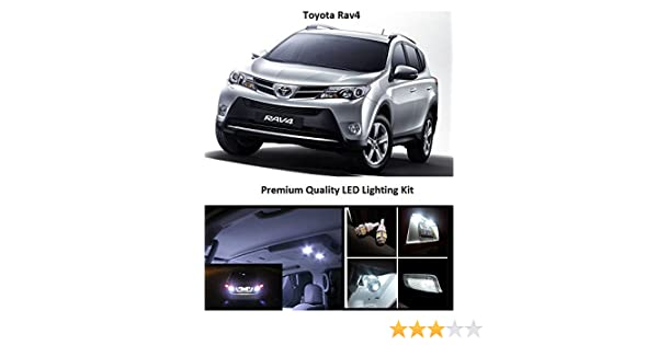 Amazon.com: EliteTech 2006-2019 Toyota Rav4 Premium LED Package Xenon White - Interior + License Plate + Reverse + Vanity (10 pieces) 2006 2007 2008 2009 ...