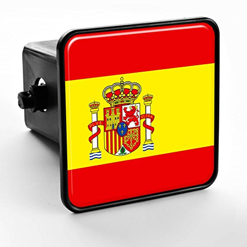 ExpressItBest Trailer Hitch Cover - Flag of Spain (Spanish) by ExpressItBest