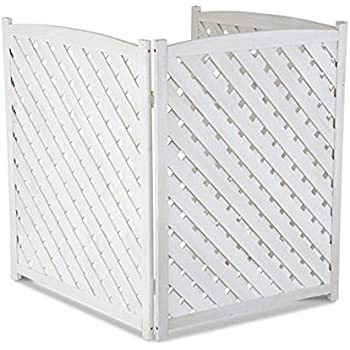 Amazon Com White Outdoor 3 Panel Wood 38 Quot Height Air