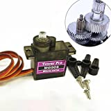 ETbotu 4.8V RC Micro MG90S Servo 9g for Aeromodelismo Helicopters Accessories