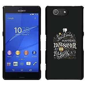 """For Sony Xperia Z3 Plus / Z3+ / Sony E6553 (Not Z3) Case , Mensaje Hermoso Chica Inspiring"""" - Diseño Patrón Teléfono Caso Cubierta Case Bumper Duro Protección Case Cover Funda"""