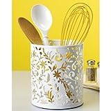 Design Ideas Vinea Utensil Cup, White