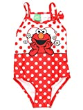 Sesame Street Elmo Girls Swimwear Swimsuit (3T, Red)